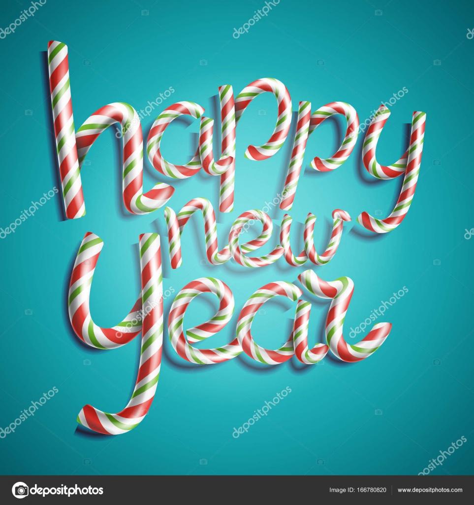 Vectores de feliz año nuevo. 3D signo de número en colores de ...