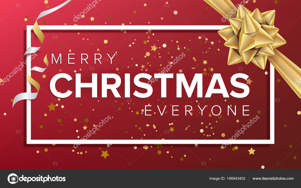 Merry Christmas Card Vector Christmas Greeting Card Luxury Xmas