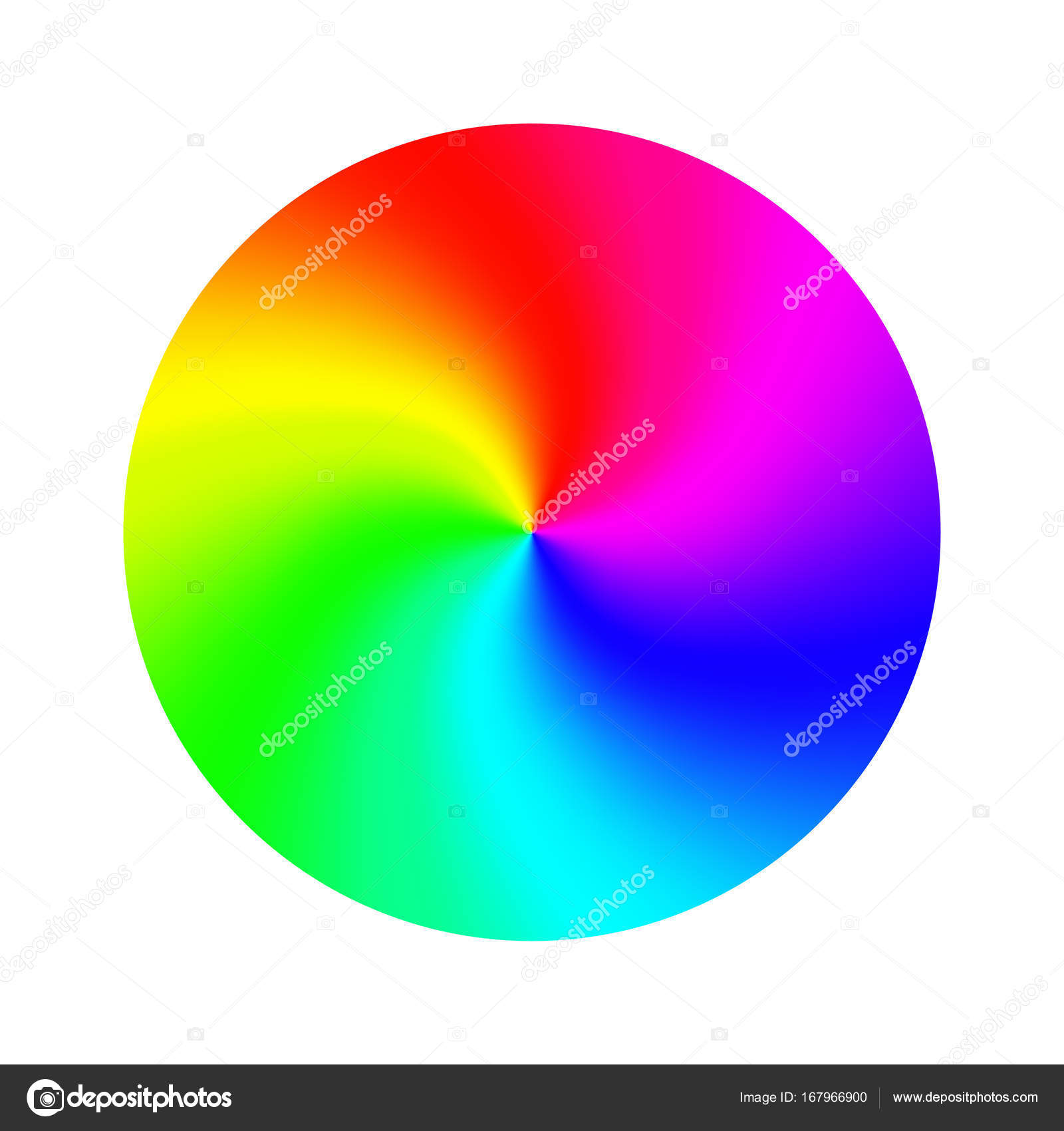 Color Wheel Vector Abstract Colorful Rainbow Circle Isolated