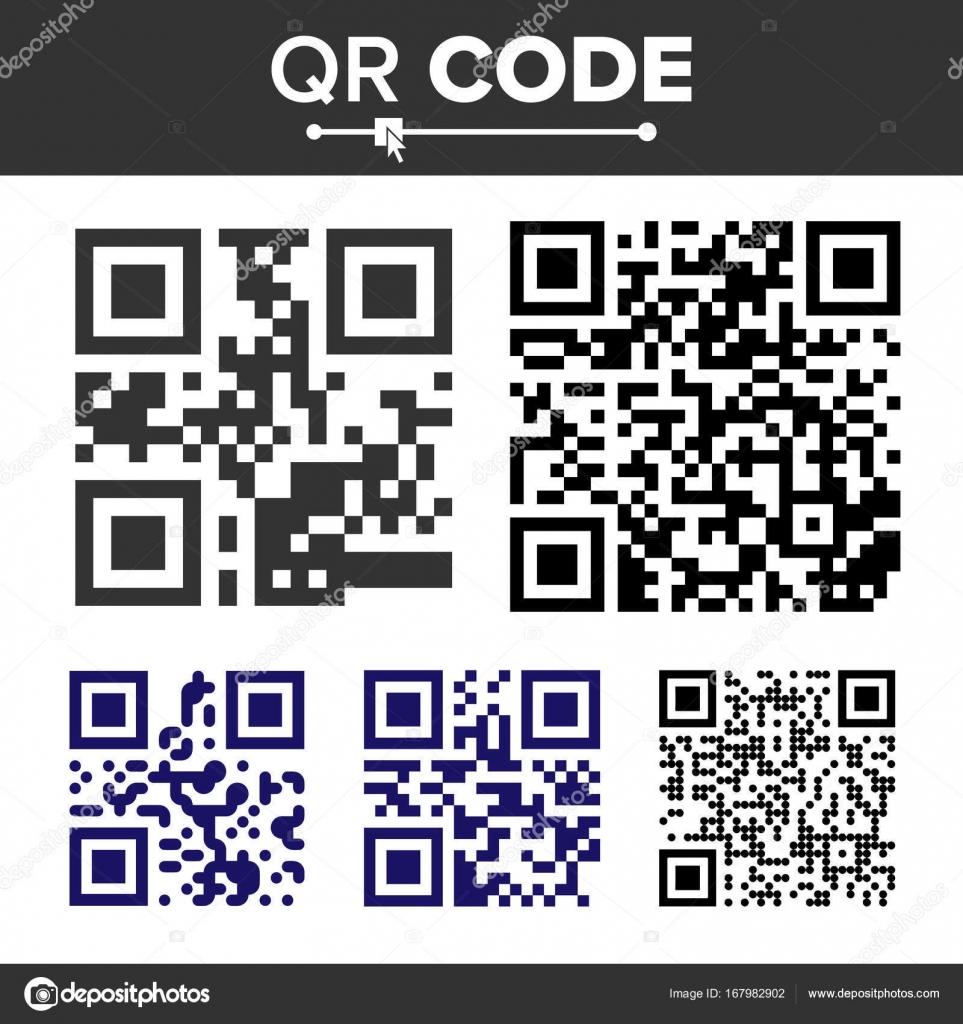 8f94cd0c1df Código QR Set Vector. De diferentes tipos. Análisis tecnología ocultada  texto o Url. Aislados ilustración de Qr Classic– ilustración de stock