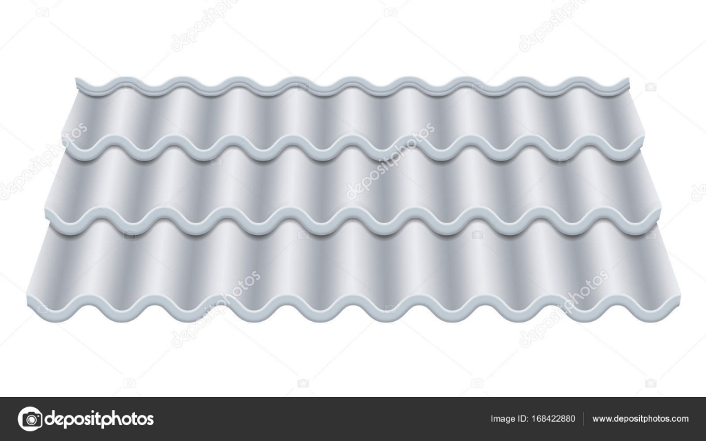 Grey Corrugated Tile Vector Classic Ceramic Tiles Cover Fragment