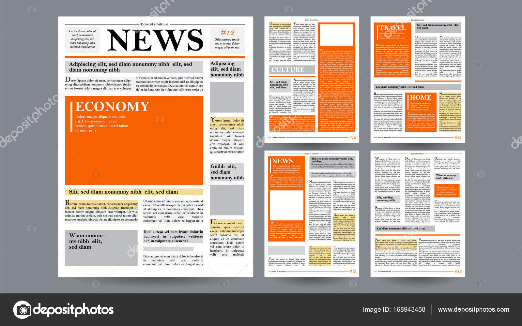 Newspaper design template vector images articles business newspaper design template vector images articles business information opening editable headlines text saigontimesfo