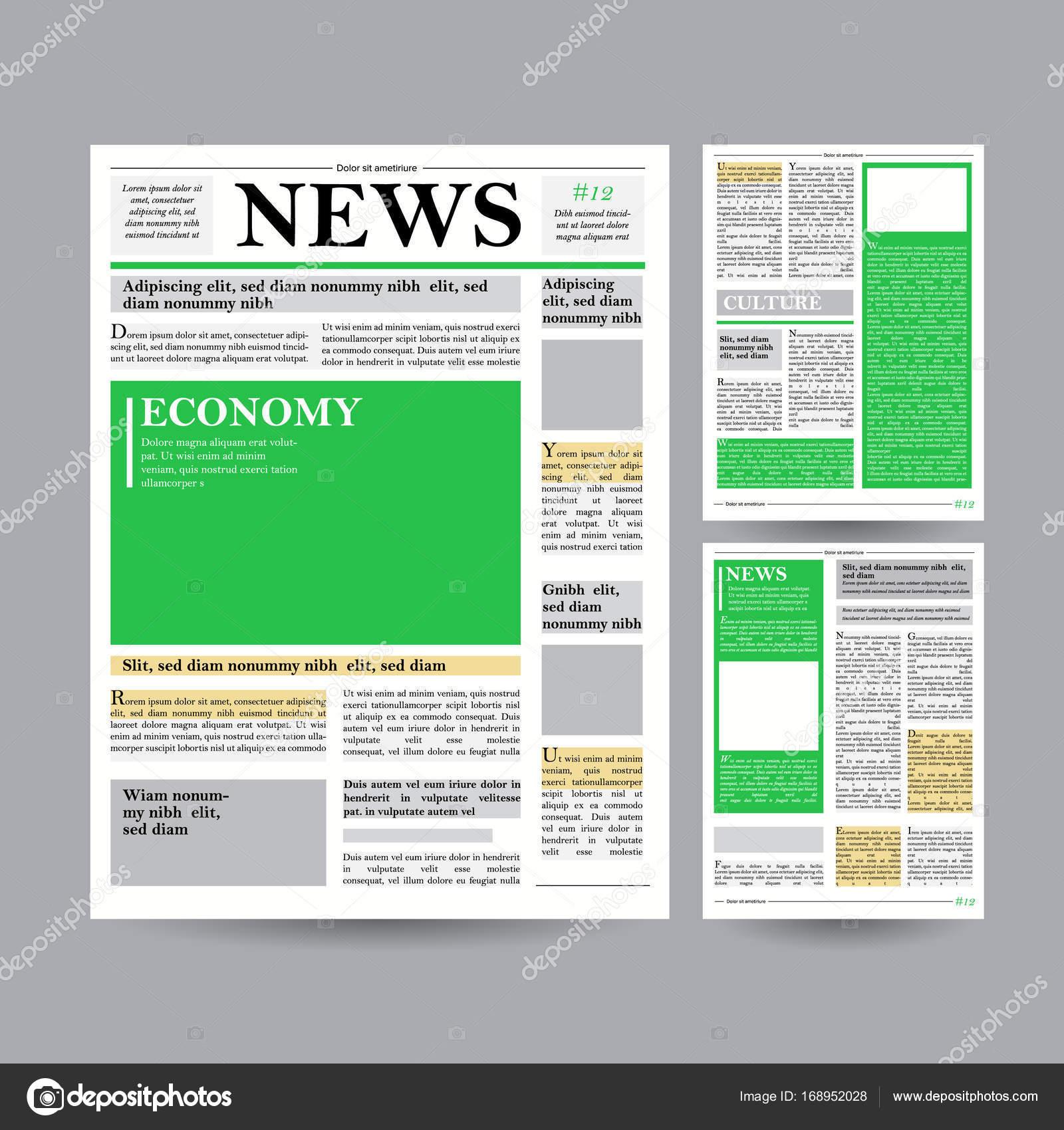 Newspaper design template vector financial articles advertising newspaper design template vector modern newspaper layout template financial articles business information world news economy headlines saigontimesfo