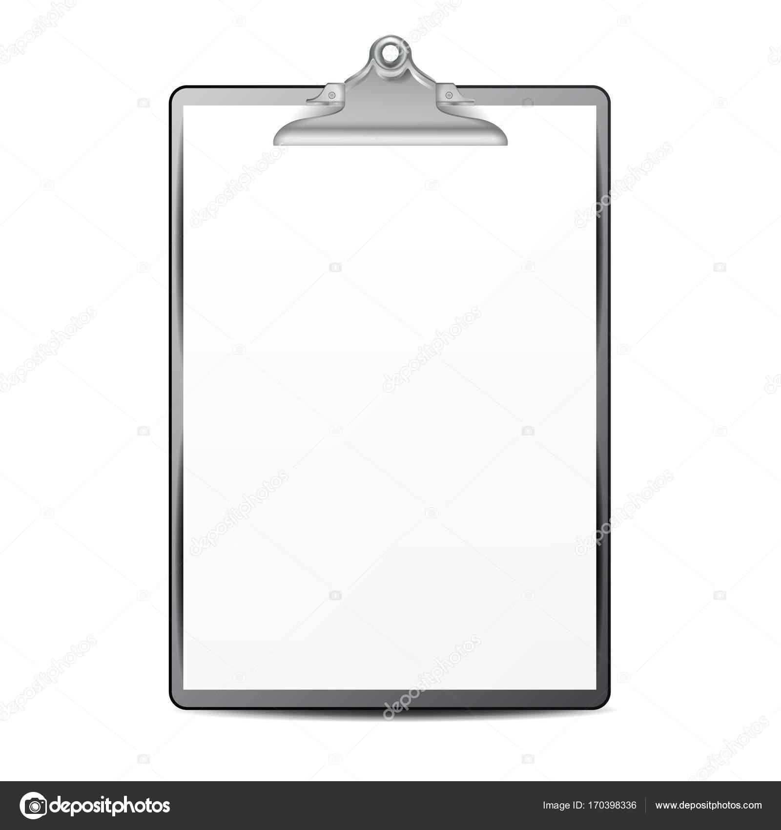 prancheta com papel de vetor folha de papel em branco zombe para