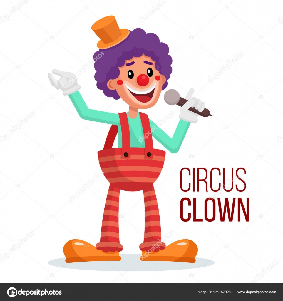 circus clown vector performance for hilarious laughing people rh depositphotos com crown vector art crown vector free download
