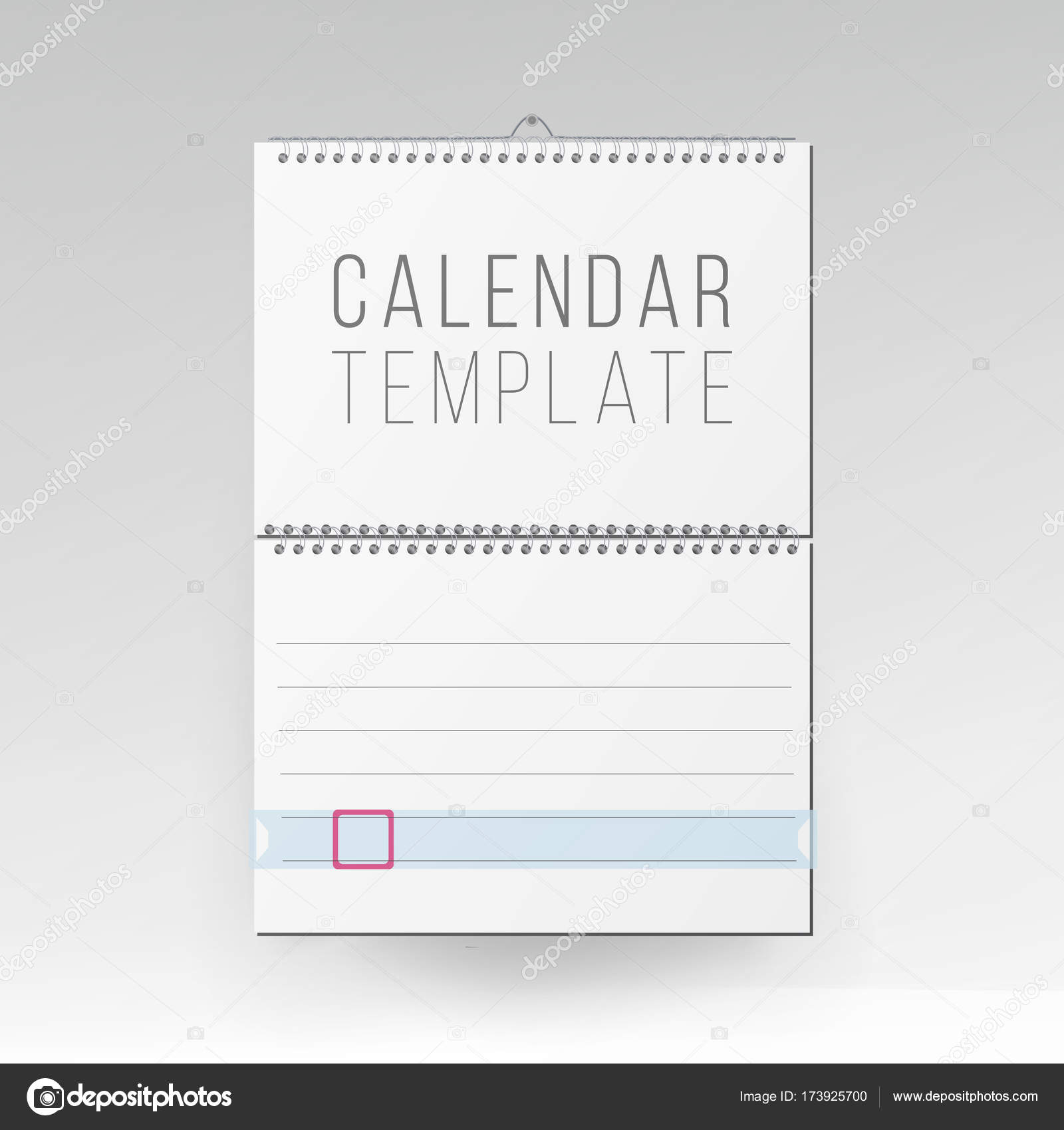 office naptár sablon Spirál naptár vektor. Üres Office naptár Mock Up. Reális papírlap  office naptár sablon