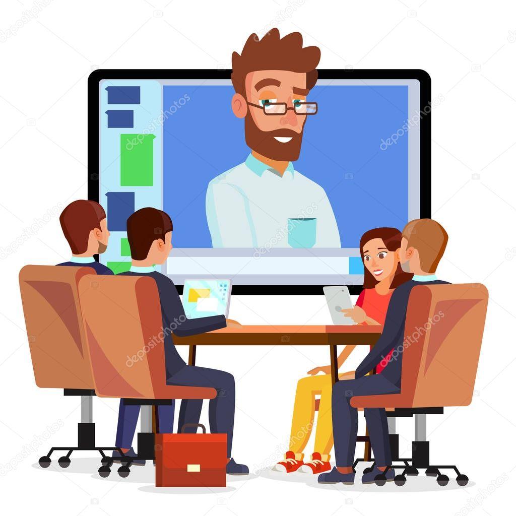 Fotos: videoconferencia | Vector de videoconferencia en ...