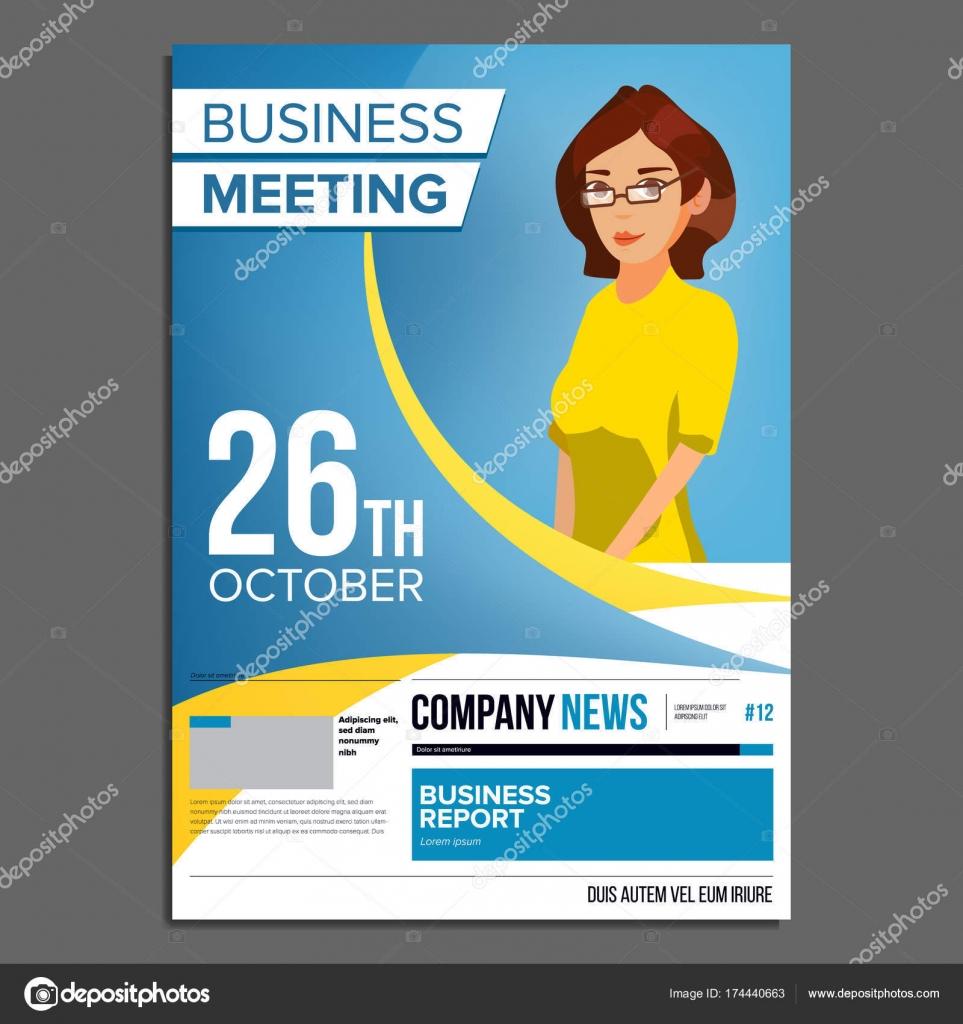 Business Meeting Poster Vektor. Business-Frau. Einladung zur ...