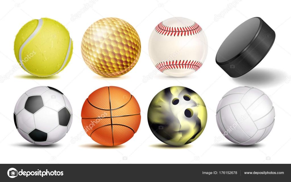 sport balls vector set of soccer basketball bowling tennis golf rh depositphotos com Plastic Golf Ball Baskets Golf Ball Flight