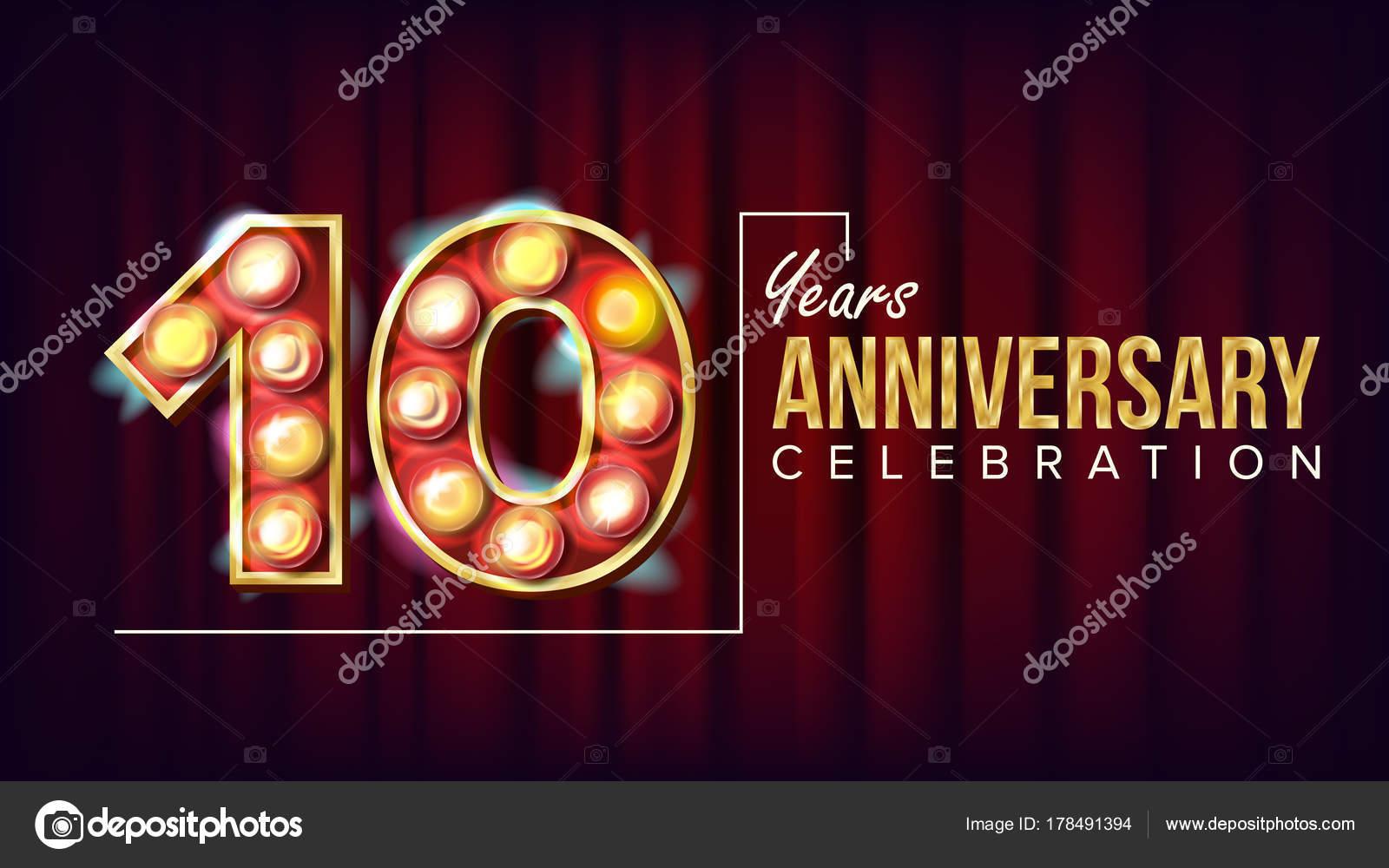 Years anniversary banner vector ten tenth celebration