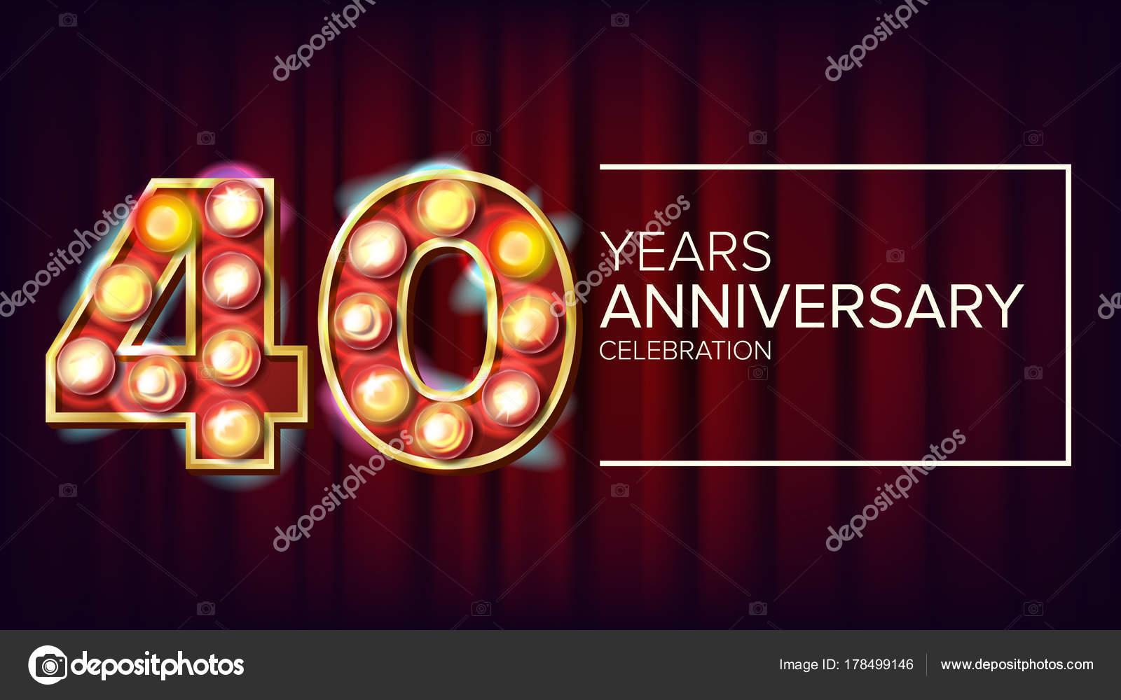 Super 40 jaar verjaardag Banner Vector. Veertig, veertigste viering #BJ14