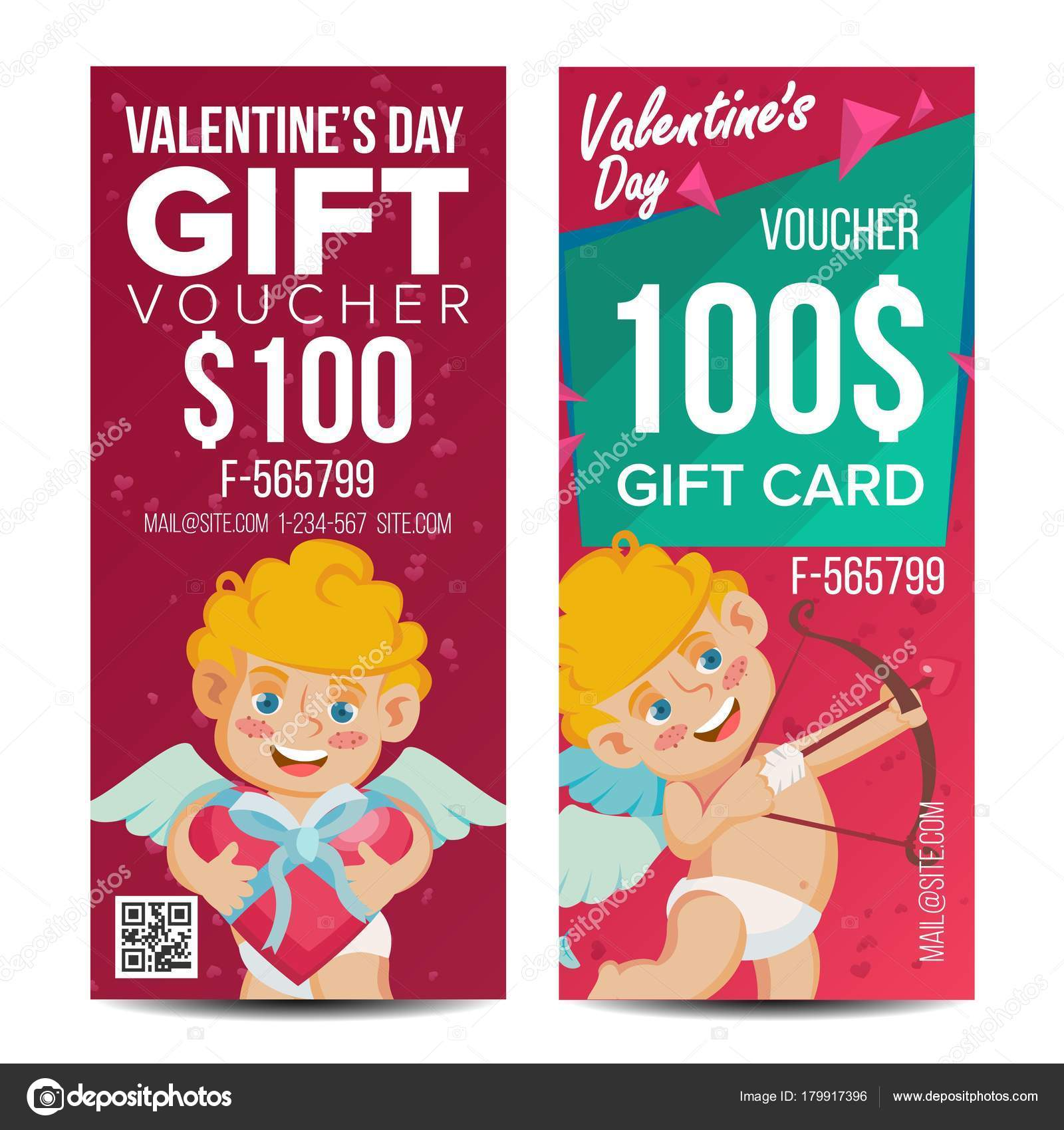 Valentine s day voucher template vector vertical free card valentine s day voucher template vector vertical free card february 14 valentine cupid 1betcityfo Image collections
