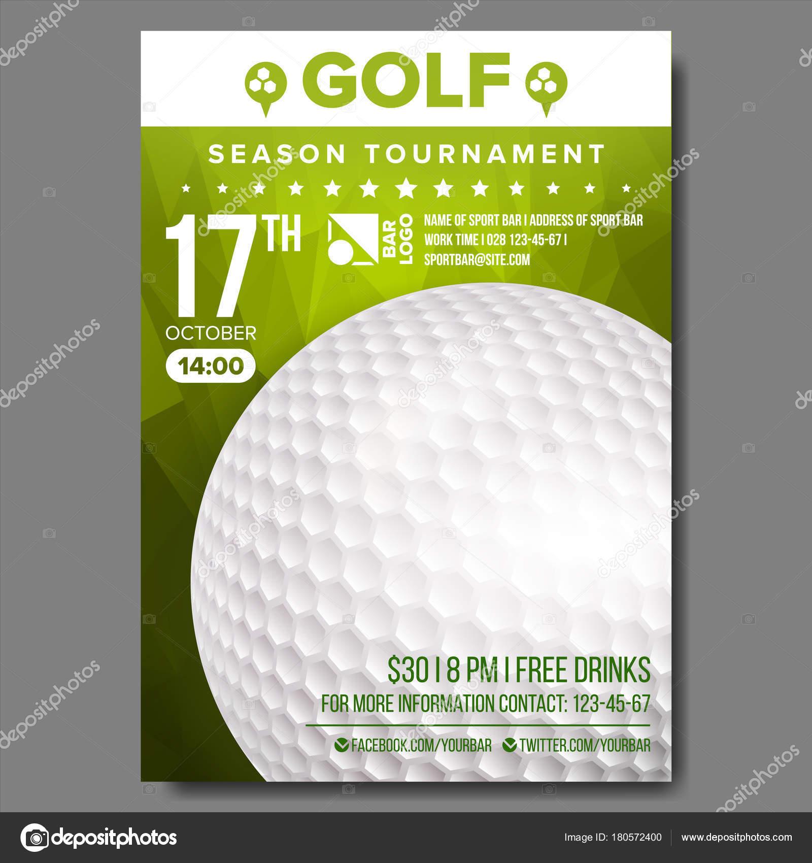 Golf poster vector sport event announcement banner advertising sport event announcement banner advertising professional league vertical sport stopboris Choice Image