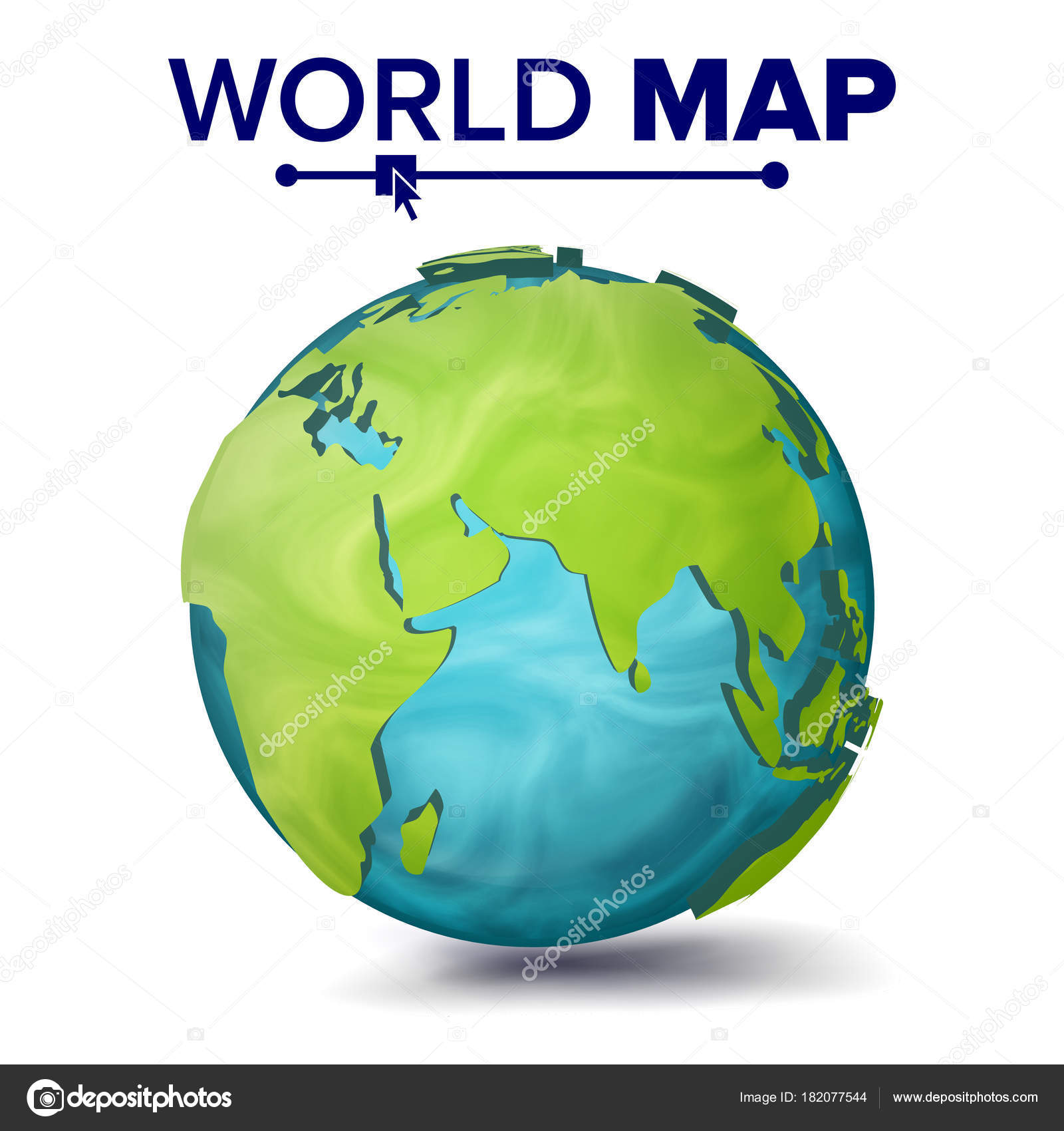 World map vector 3d planet sphere earth with continents eurasia world map vector 3d planet sphere earth with continents eurasia australia africa illustration vector by pikepicture gumiabroncs Image collections