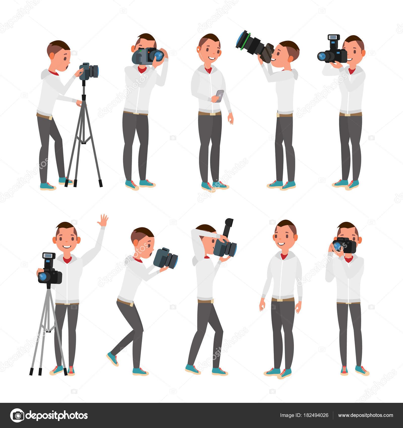 На камеру в различных позах