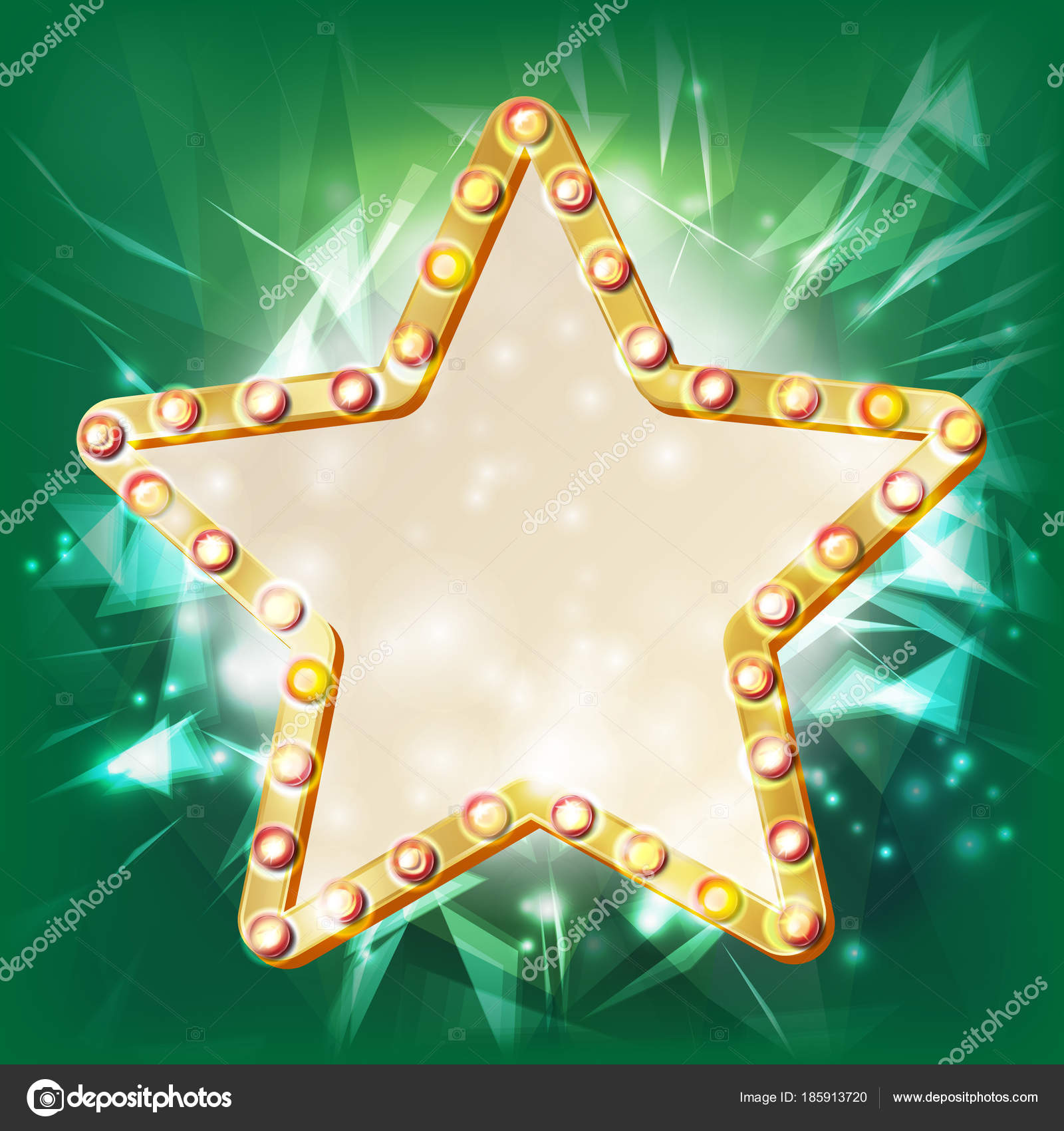 Vector marco de estrellas doradas. Elemento que brilla intensamente ...