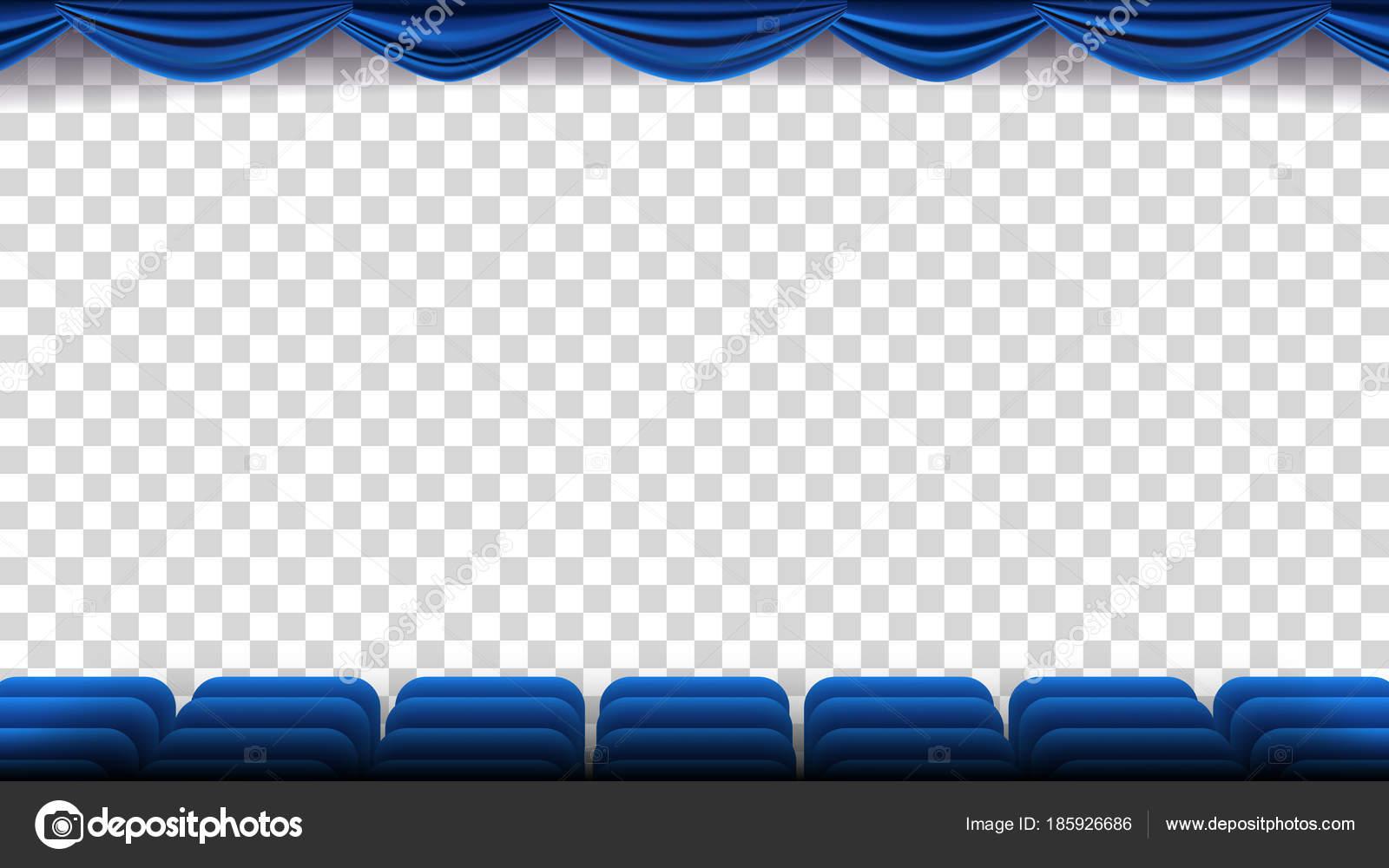 Kino Sessel Vektor. Film, Film, Theater, Auditorium mit blauem Sitz ...