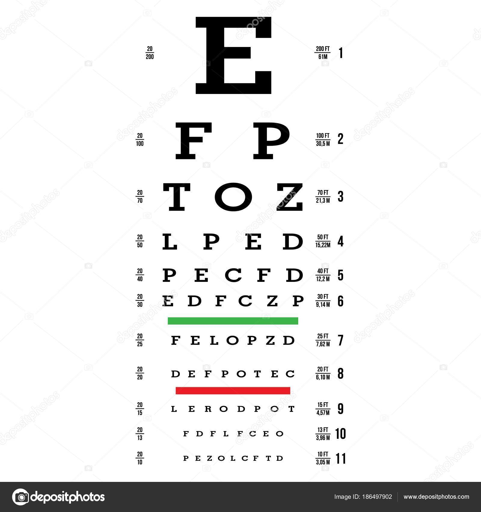Eye test chart vector letters chart vision exam optometrist check eye test chart vector letters chart vision exam optometrist check medical eye geenschuldenfo Image collections
