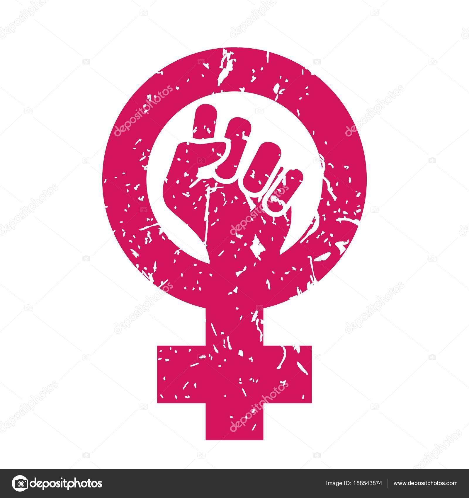 d4b5c66c370b4 Vetor de símbolo do feminismo. Poder do feminismo. Sociedade de LGBT. Ícone  feminino. Mão de feminista. Direitos de meninas. Protesto feminino de  futuro.