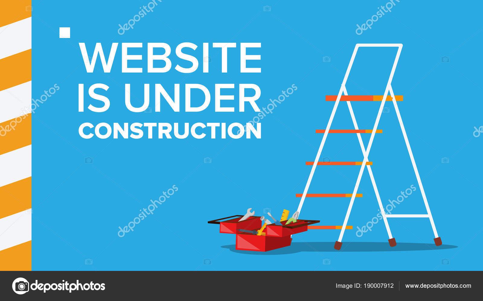 Site Web Sous Vector Construction Page D Accueil Page Du