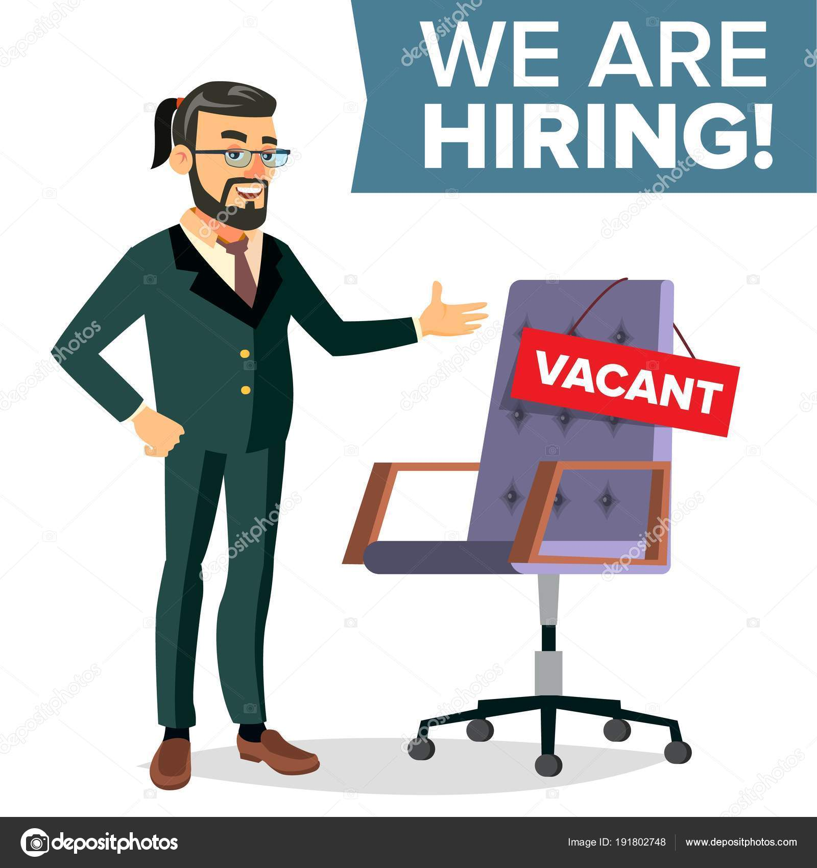 Recruitment Process Vector Human Resources Career Businessman