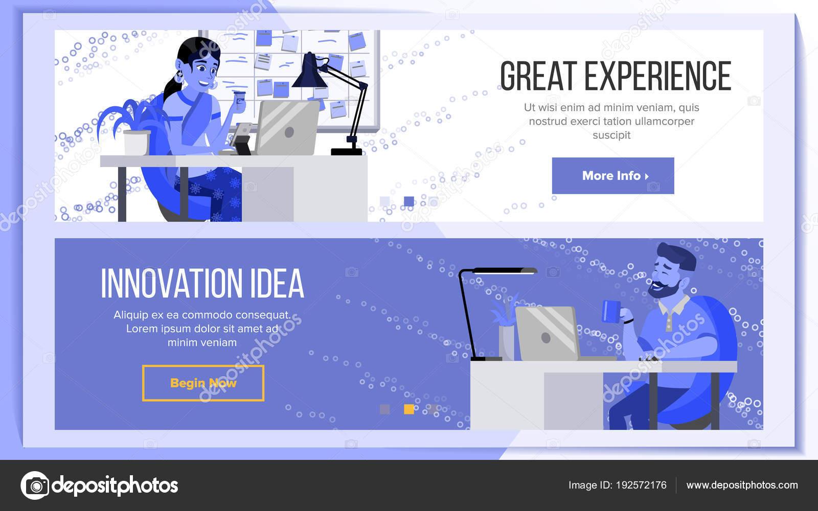 Vector de diseño horizontal Banners Web. Fondo de negocios. Diseño y ...