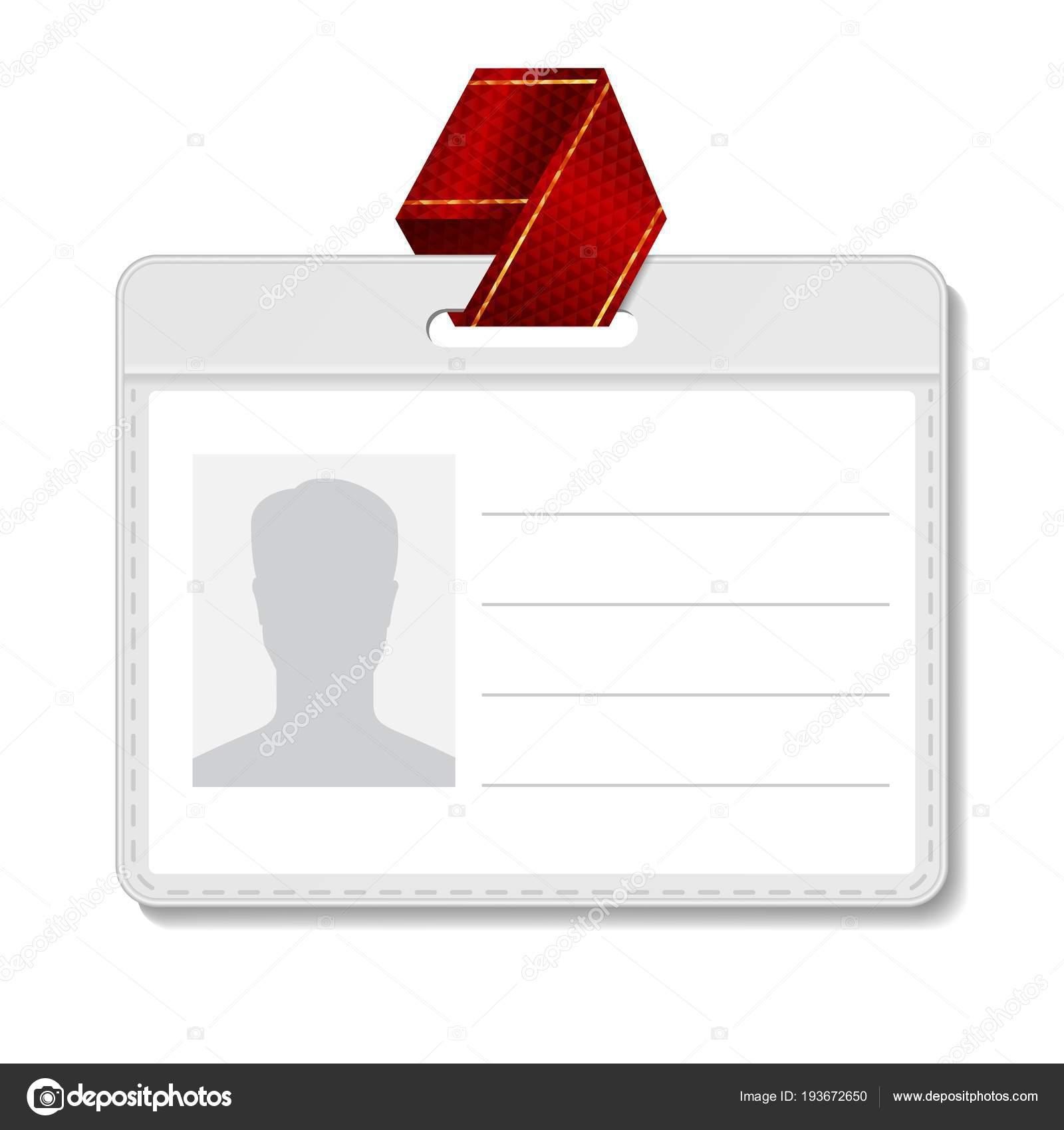 Vector de gafete de identificación. Tarjeta de identificación en ...