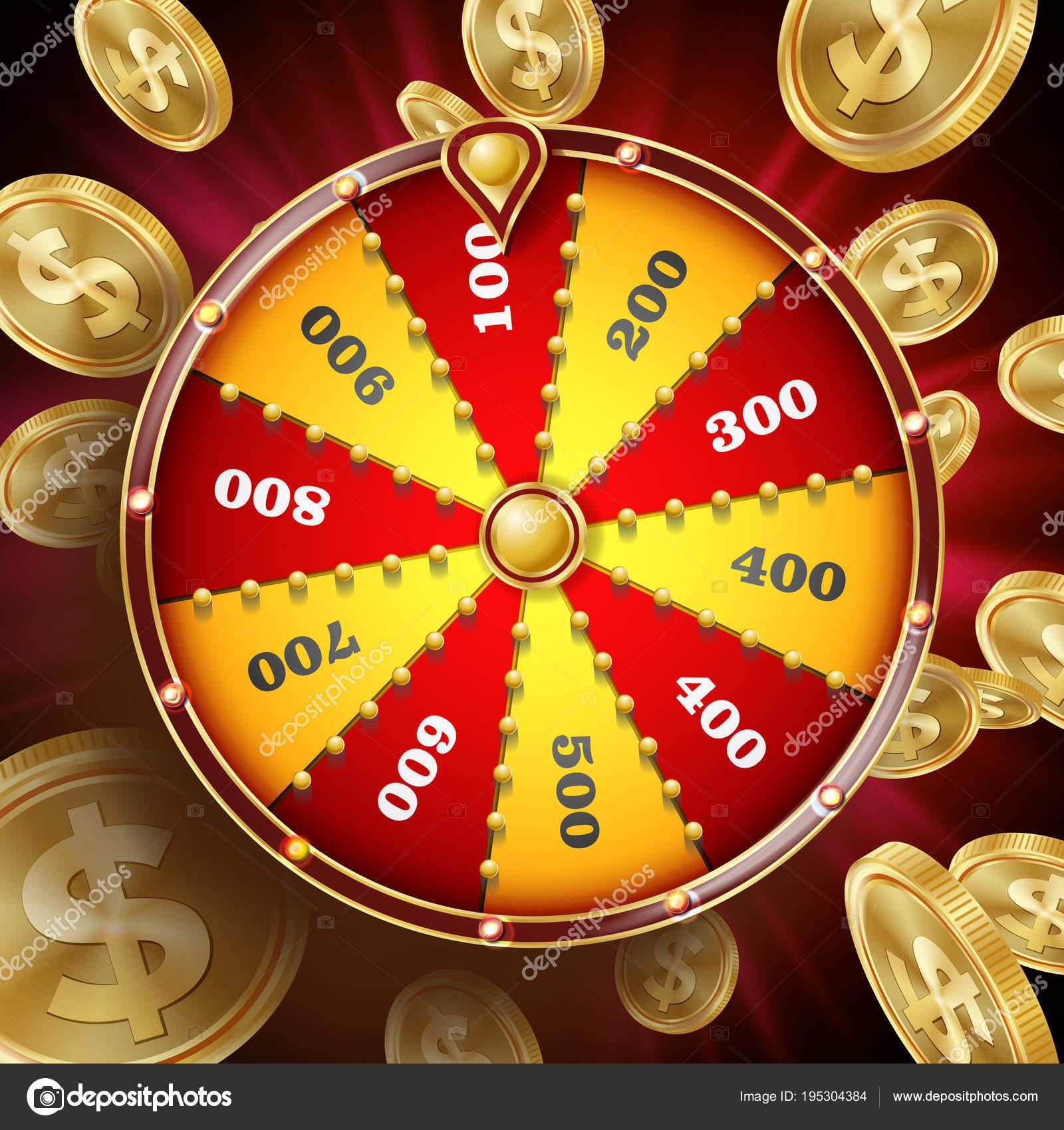 Roue De La Fortune Design Vectoriel Fortune De Win Roulette
