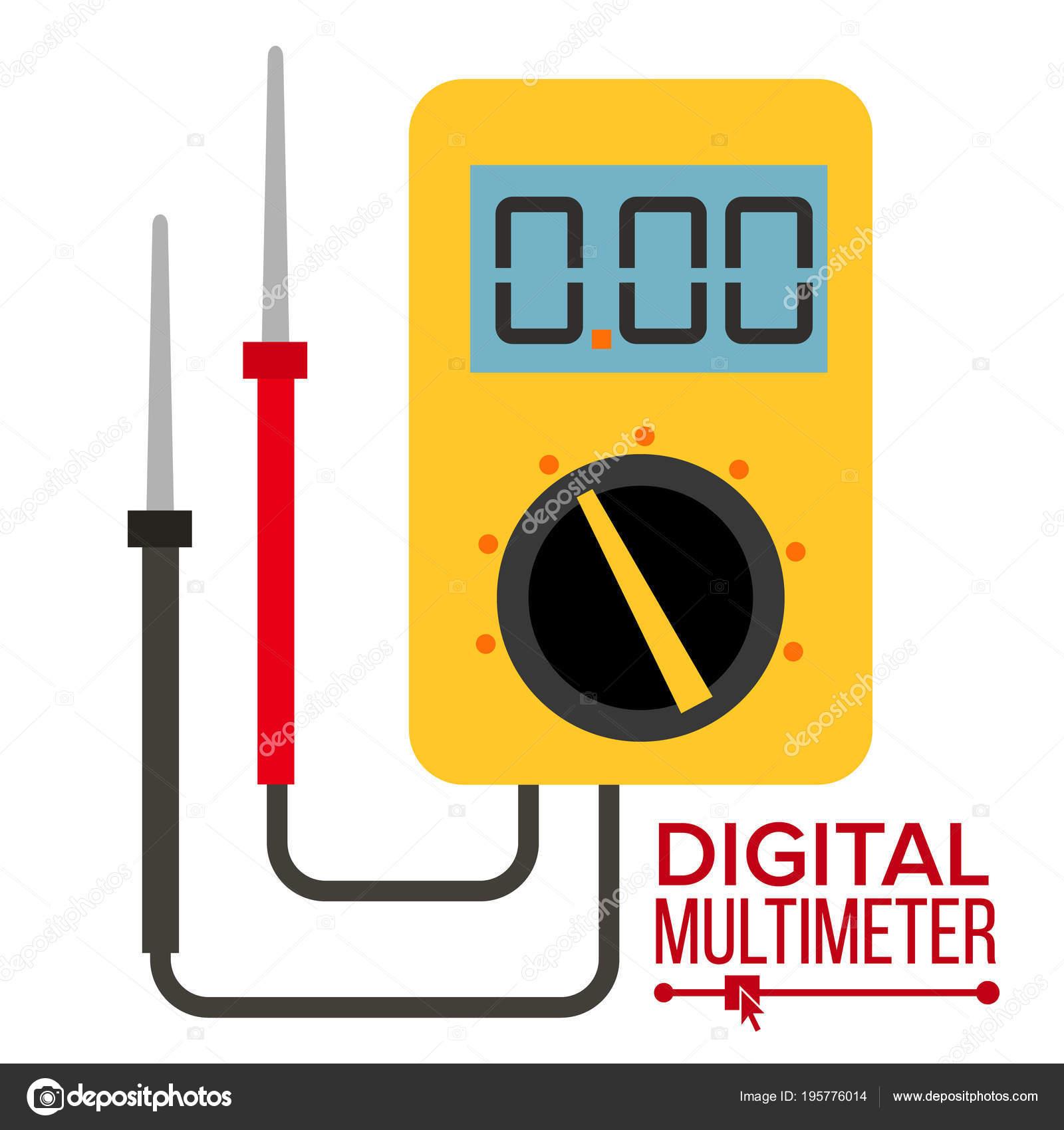 Multimeter Vektor. Digital-Gadget. Elektrische Multitester Symbol ...