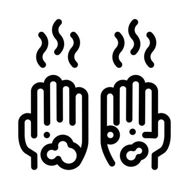 Dirty And Smelly Hands Icon Vector. Outline Dirty And Smelly Hands Sign. Isolated Contour Symbol Illustration icon