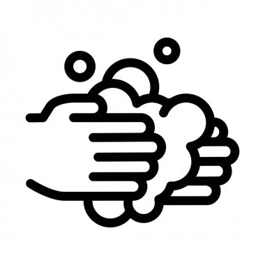 Hands Wash Liquid Soap Icon Vector. Outline Hands Wash Liquid Soap Sign. Isolated Contour Symbol Illustration icon