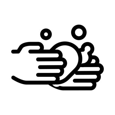 Hands Wash With Soap Icon Vector. Outline Hands Wash With Soap Sign. Isolated Contour Symbol Illustration icon