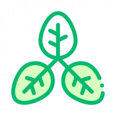Bush Offshoot Plant Leaves Vector Thin Line Icon. Organic Cosmetic, Natural Component Plant Leaf Linear Pictogram. Eco-friendly, Cruelty-free Product, Molecular Analysis Contour Illustration icon
