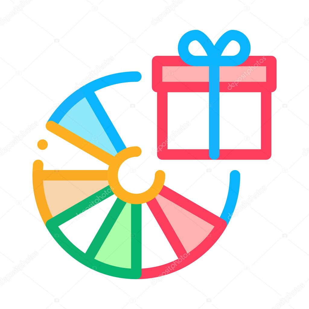 Wheel Of Fortune Gift Icon Vector Outline Wheel Of Fortune Gift Sign Isolated Contour Symbol Illustration Premium Vector In Adobe Illustrator Ai Ai Format Encapsulated Postscript Eps Eps Format