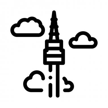 Korean Tower Icon Vector. Outline Korean Tower Sign. Isolated Contour Symbol Illustration icon