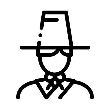 Korean Human Icon Vector. Outline Korean Human Sign. Isolated Contour Symbol Illustration icon