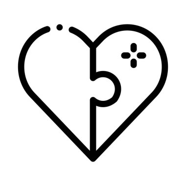 Heart Love Icon Vector. Outline Heart Love Sign. Isolated Contour Symbol Illustration icon