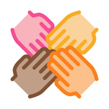 Group Handshake Icon Vector. Outline Group Handshake Sign. Isolated Contour Symbol Illustration icon