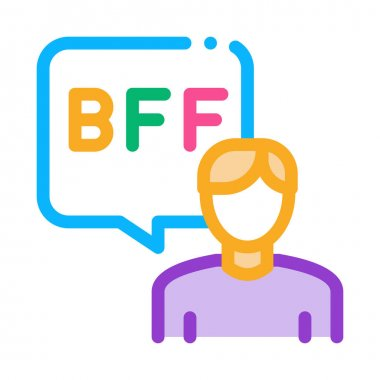 Human Talking Bff Icon Vector. Outline Human Talking Bff Sign. Isolated Contour Symbol Illustration icon