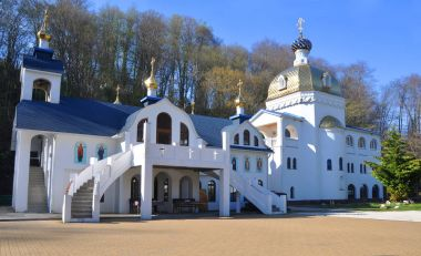Temples of the Trinity-St. George Monastery. Sochi, Russia