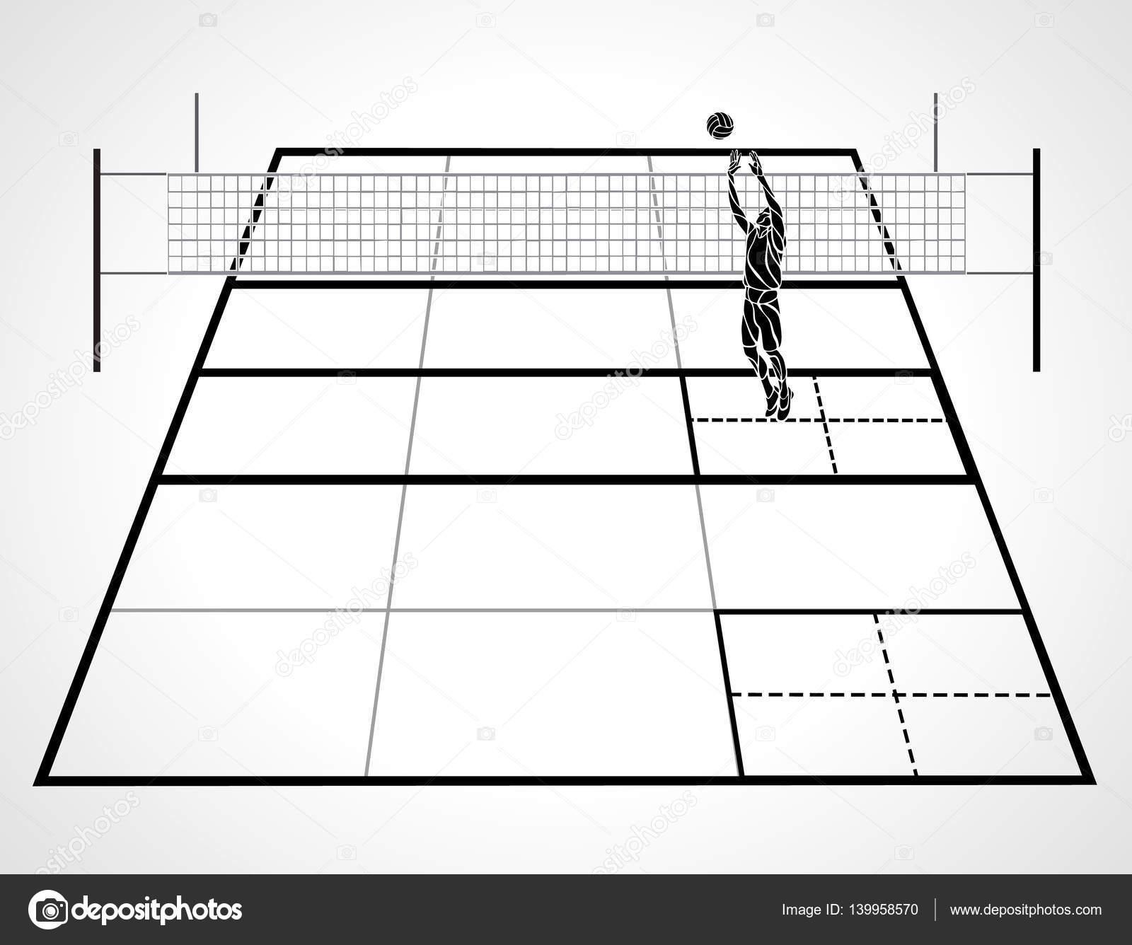 Dibujos Dibujo De La Cancha De Voleibol Cancha De Voleibol Con