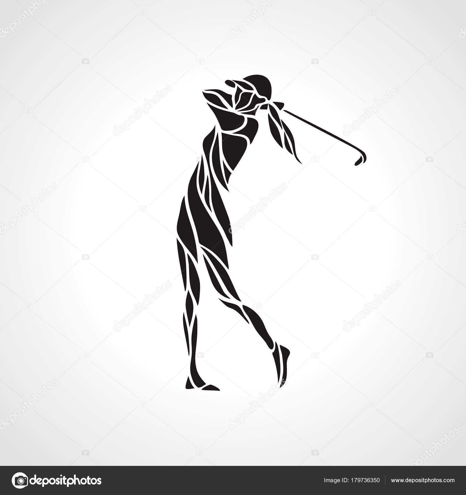 The golf player Drawing   k6580693   Fotosearch