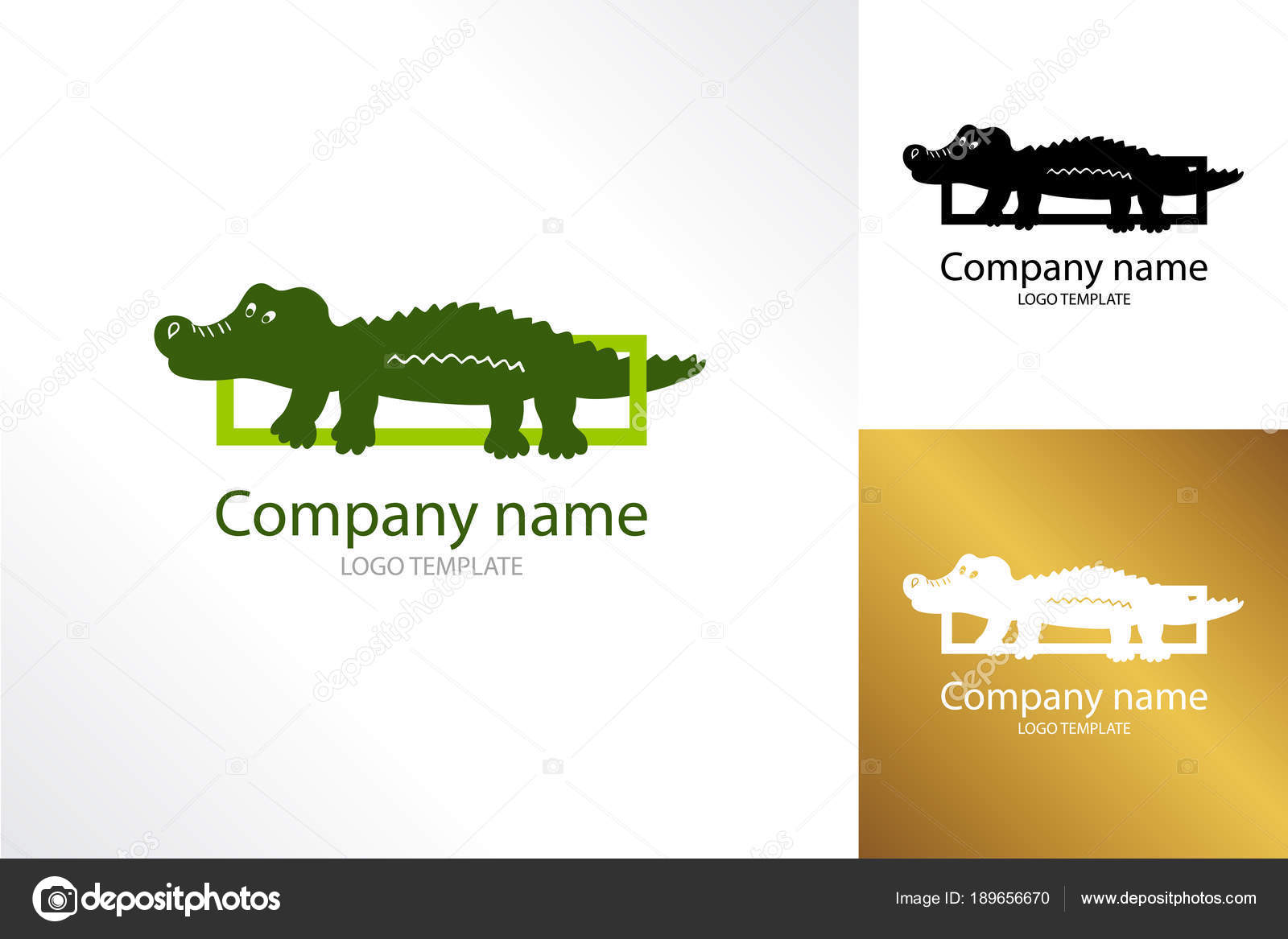 crocodile logo template logotype alligator reptile stock vector