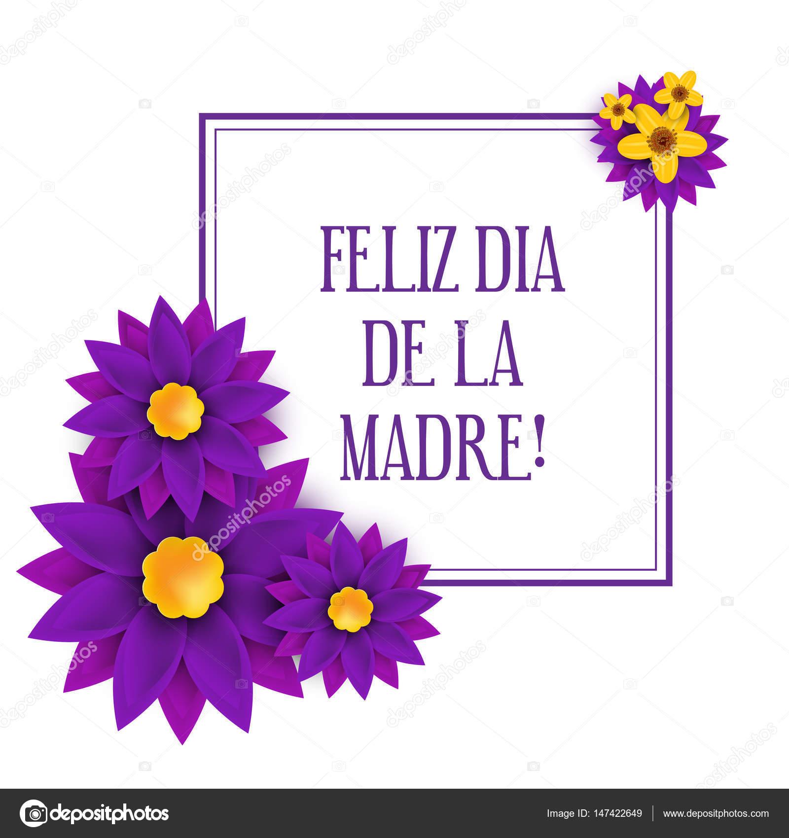 Feliz dia de la Madre szczęśliwa matka s dzień w języku hiszpańskim