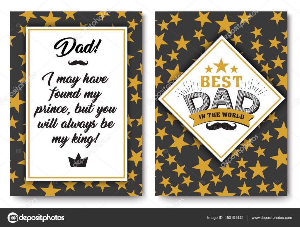 Papa-Geburtstagskarte mit Worten der Liebe — Stockvektor © Peliken ...