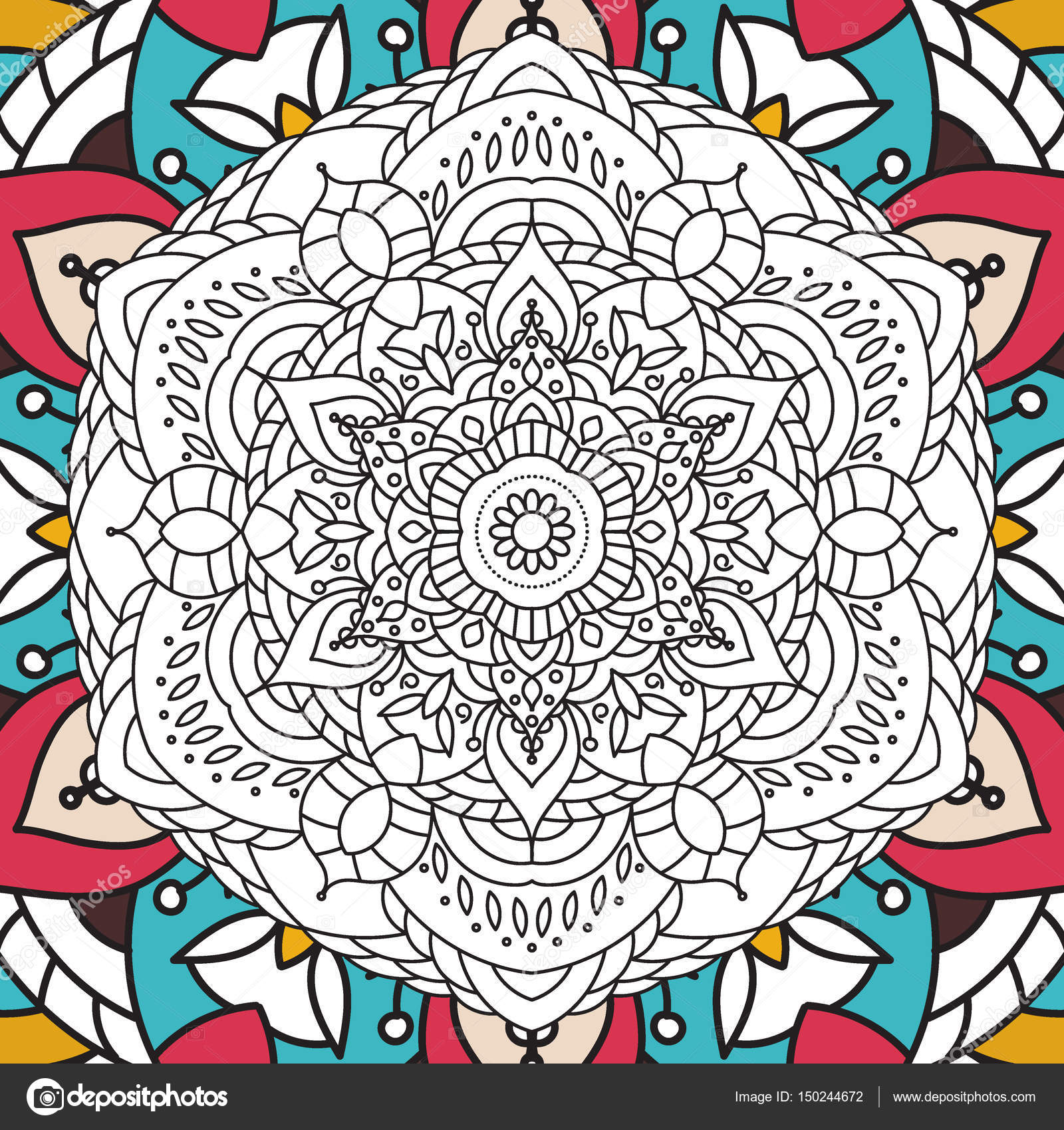 Printable Antistress Coloring Book Page For Adults