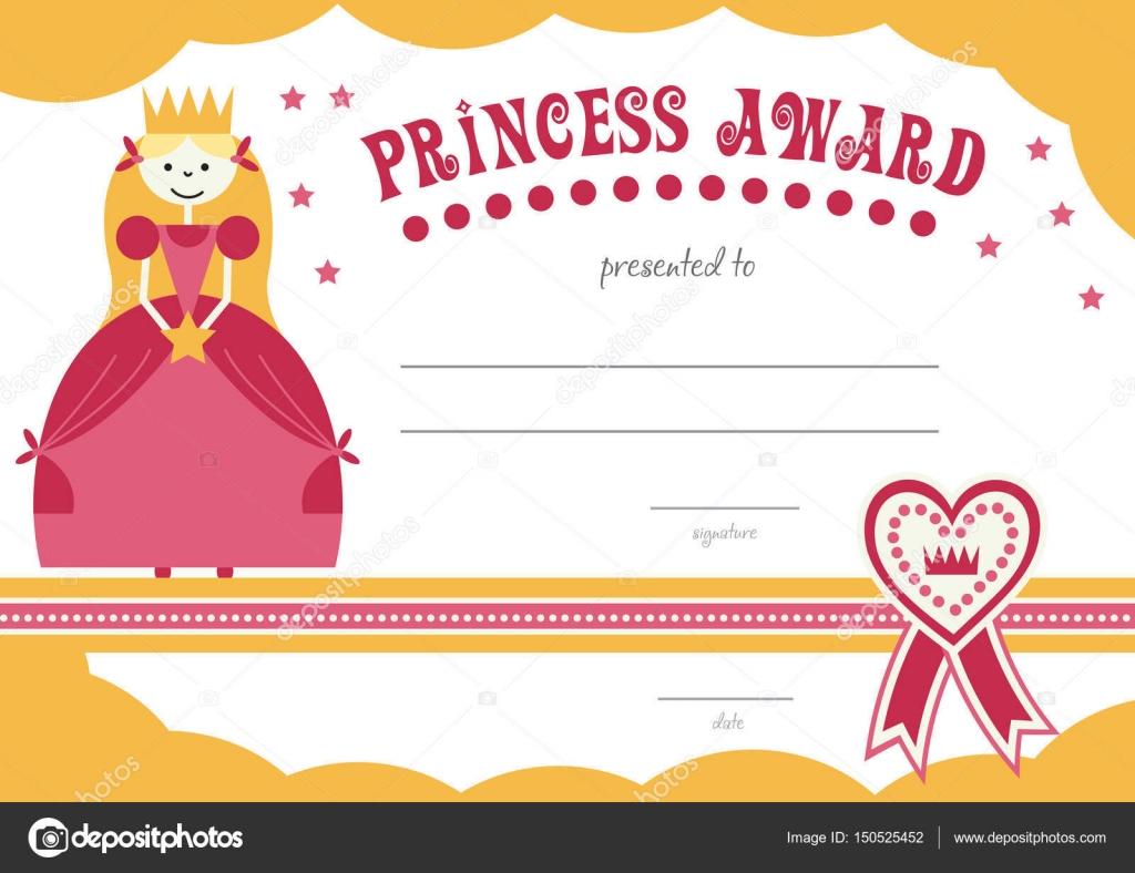 druckbare Prinzessin Zertifikat hat einen hübschen rosa Rand mit ...