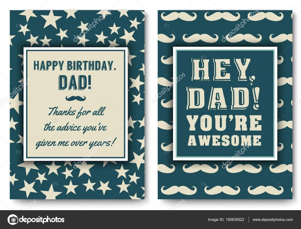 Dad Birthday Card With Words Of Love Stock Vector Peliken 150835522
