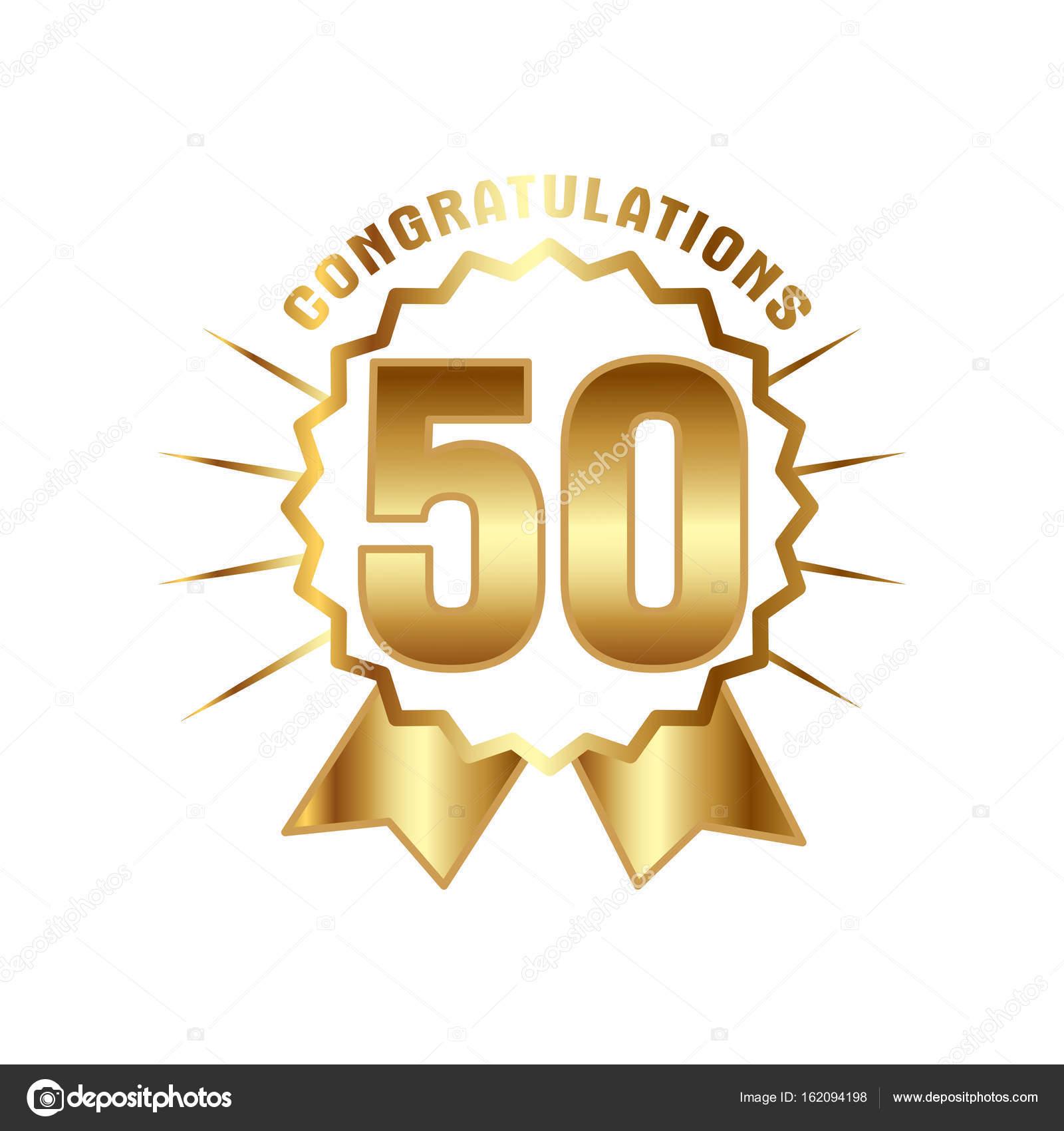 femtio år Årsdagen golden femtio år antal — Stock Vektor © Peliken #162094198 femtio år