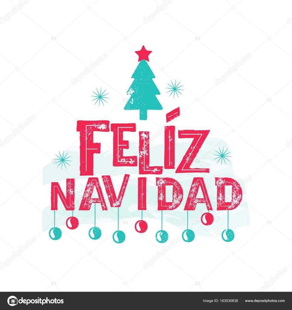 Feliz Navidad - Frohe Weihnachten spanische Sprache — Stockvektor ...
